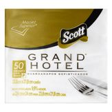 Guardanapo de Papel Folha Dupla Scott Grand Hotel Pacote com 50 Unidades