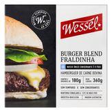 Hambúrguer de Carne Bovina Fraldinha Blend Wessel Caixa 360g com 2 Unidades