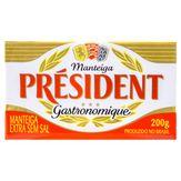 Manteiga Extra sem Sal Président Gastronomique Pote 200g