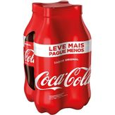 Refrigerante Coca-Cola Pack com 4 Garrafas 1,5l Cada Leve Mais Pague Menos