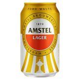 Cerveja Lager Puro Malte Amstel Pack 12 Latas 350ml Cada