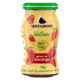 Geleia 100% Fruta Morango Light Wellness Queensberry Vidro 250g