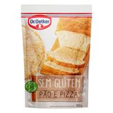 Mistura para Pão e Pizza sem Glúten Dr. Oetker Pacote 300g