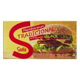 Hambúrguer de Carne Bovina Tradicional Sadia Caixa 672g com 12 Unidades