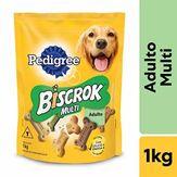 Biscoito Para Cães Adultos Biscrok Pedigree Pacote 1kg