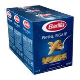 Macarrão de Sêmola Penne Rigate 73 Barilla Pack com 3 unidades 500g Cada