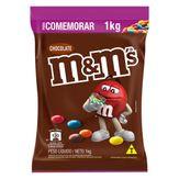 Confeito de Chocolate ao Leite M&M's Pacote 1kg para Comemorar