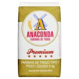 Farinha de Trigo Tipo 1 Anaconda Premium Pacote 5kg