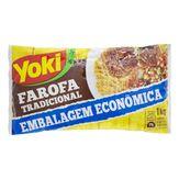 Farofa de Mandioca Tradicional Temperada Yoki Pacote 1kg Embalagem Econômica