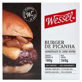 Hambúrguer de Carne Bovina Picanha Wessel Caixa 360g com 2 Unidades