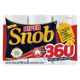 Toalha de Papel Folha Dupla Snob Hiper 19cm X 22cm com 3 unidades cada