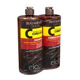 Kit Shampoo + Condicionador Eico Cura Fios 2 Unidades 1l