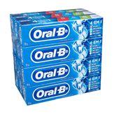 Creme Dental 4 em 1 Menta Fresca Oral-B Pack com 12 Unidades 70 g Cada