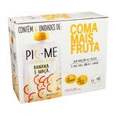 Purê de Frutas Banana e Maçã Pic-Me Pack com 6 Unidades 100g Cada