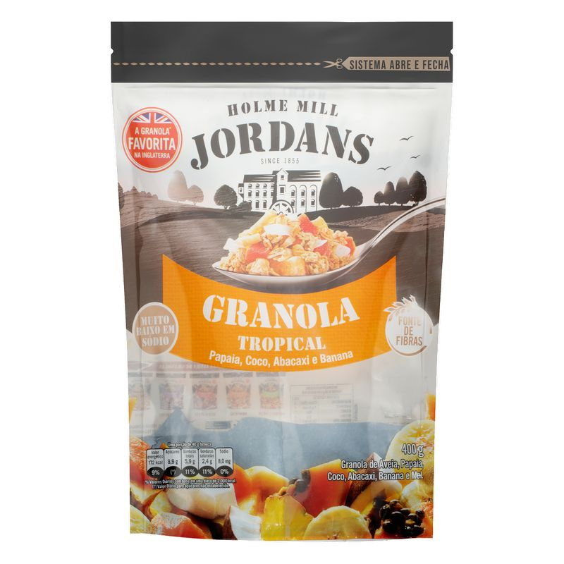 Granola-Tropical-Papaia-Coco-Abacaxi-Banana-e-Mel-Jordans-400g