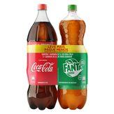 Refrigerante Coca-Cola + Refrigerante Fanta Pack com 2 Unidades 2l Cada