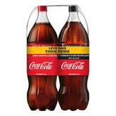 Refrigerante Coca-Cola + Refrigerante Coca-Cola Sem Açúcar Pack com 2 Unidade 2l Cada