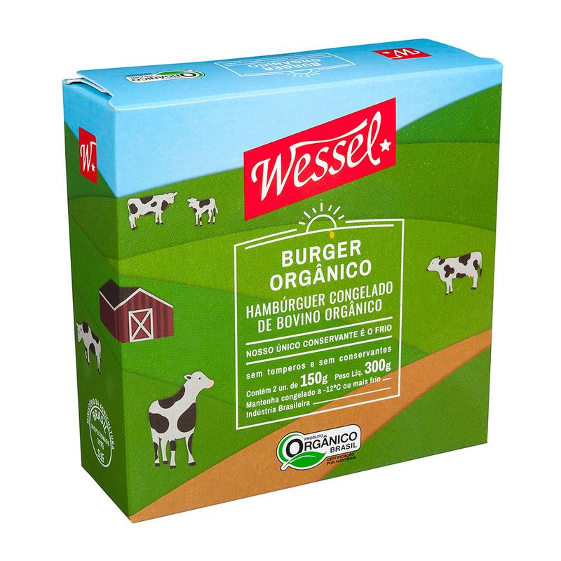 Hamburguer-Bovino-Congelado-Organico-Wessel-Pack-2-Unidades-150g-cada