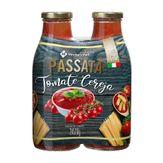 Molho de Tomate Cereja Passata Member's Mark Pack 2 Unidades 520g Cada