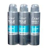 Desodorante Aerossol Dove Men Cuidado Total Pack 3 Unidades 89g Cada