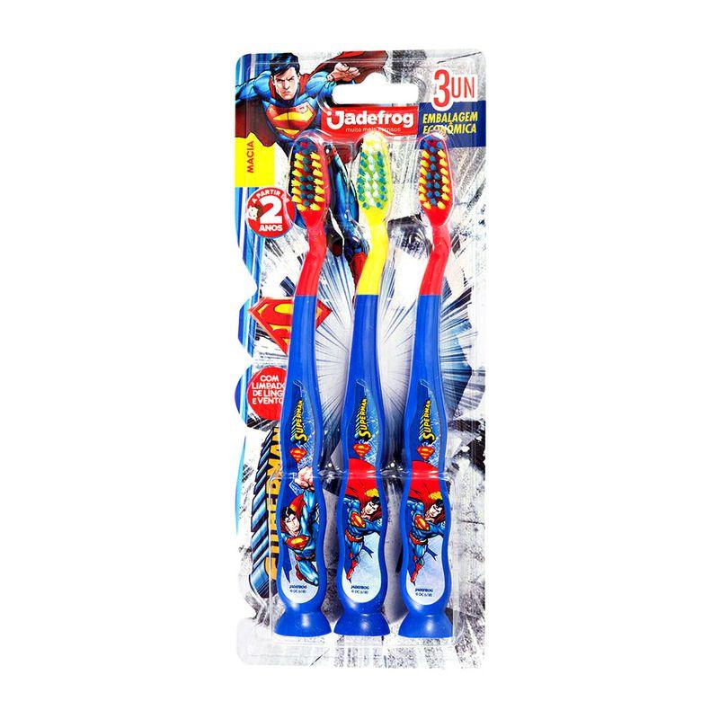 Escova-Dental-Superman-Jadefrog-com-3-Unidades
