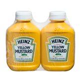 Mostarda Amarela Heinz Pack 2 Unidades 255g Cada