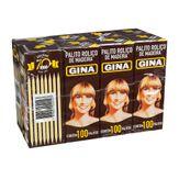 Palito de Madeira Gina com 100 Pack 8 Unidades