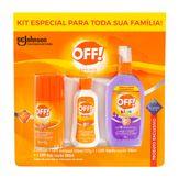 Kit Repelente Off! Aerossol 165ml + Loção Family 100ml + Loção Kids 200ml