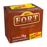 Café Torrado e Moído Fort Pack com 4 Unidades 500g Cada