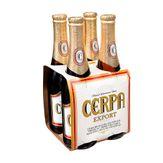 Cerveja Cerpa Export Pack com 4 Garrafas 350ml Cada