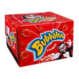 Chiclete Morango Bubbaloo Adams Caixa com 60 Unidades