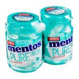 Mentos Pure Fresh Goma de Mascar Pack com 2 Unidades 56gr Cada