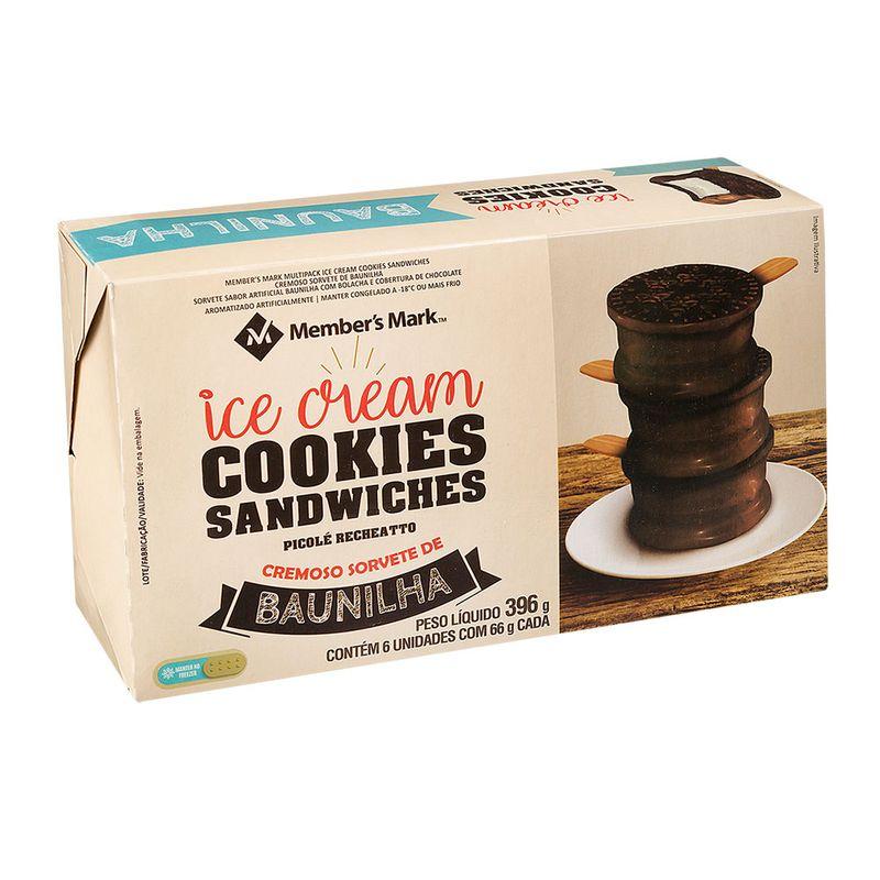 Sorvete-de-Baunilha-Cookies-Sandwiches-Member-s-Mark-Pack-com-6-Unidades-66g-Cada