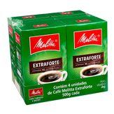 Café Torrado e Moído Extraforte Melitta Pack com 4 Unidades 500g Cada