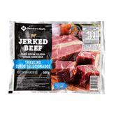 Jerked Beef Traseiro Cubos Selecionados Member's Mark Pacote 500g