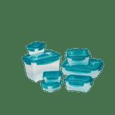 Conjunto Potes De Plástico Com 8 Unidades Neoflam