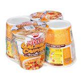 Cup Noodles Galinha Caipira Nissin Pack com 4 Unidades 69g Cada