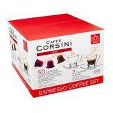 Espresso Coffe Set Caffè Corsini com 30 Cápsulas + 2 Xícaras