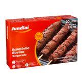 Espetinho de Carne Bovina Temperado Jundiaí Caixa 1,6Kg com 20 Unidades