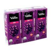 Suco De Uva Dell Valle Pack com 3 Unidades 200ml Cada