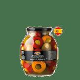 Pimentão com Azeitona Verde e Alho em Conserva Manolito Vidro 1,190g