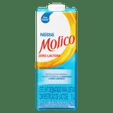 Leite UHT Desnatado Zero Lactose Molico Nestlé Caixa com Tampa 1l