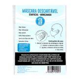 Máscara Descartável Semifacial Monocamada Member's Mark Pacote 10 Unidades