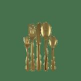 Kit Talheres Dourados em Aço Inox Royal Home Caixa 30 Unidades