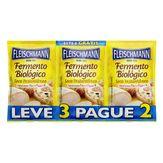 Fermento Biológico Seco Instantâneo Fleischmann Envelope 10g Cada Leve 3 Pague 2 Unidades