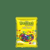 Bala de Frutas Sortidas Deliket Jelly Bean Dori Pacote 700g