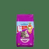 Ração Sabor Carne Gatos Castrados Whiskas Pacote 3kg