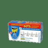 Kit Inseticida Elétrico Líquido Raid com 1 Aparelho + 3 Refis de 32,9ml
