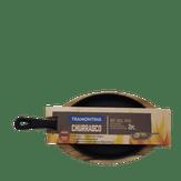 Kit Tabua para Churrasco de Madeira + 1 Chapa Mix Grill Ovalde Ferro Fundido Tramontina