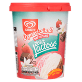 Sorvete Napolitano Zero Lactose Cremosíssimo Kibon Pote 800ml